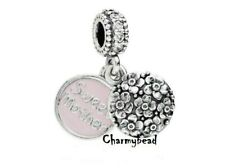 New Genuine Pandora Silver and Clear CZ💎Sweet Mother 💎Dangle 791285CZ.