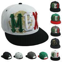 Mexico Baseball Cap Flat Bill Cotton Sun Visor Hat Hip Hop Snapback Outdoor