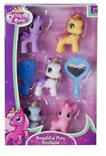 7pc Beautiful Pony Comb Brush Mirror Grooming Set Kids Girls Stocking Filler Toy