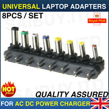 8pcs Universal PC Notebook Laptop AC DC Power Charger Adapter Tips Connector