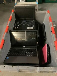 Job Lot 30 x Mini Laptops Tablets Chromebooks Acer Dell HP ASUS Samsung