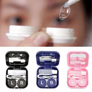 Mini Portable Contact Lens Storage Case Box Container Travel Kit Prevent Leakage