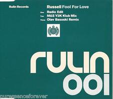 RUSSELL  - Fool For Love (UK 3 Track CD Single)