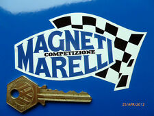 "MAGNETI MARELLI 4 "" 100mm alterno Bandiera Italiana Car Bike ADESIVI DUCATI FERRARI"