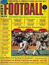 1973 Sports Quarterly, Pros Football,magazine,Csonka Kiick Griese Miami Dolphins