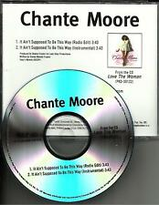 CHANTE MOORE It Ain't Supposed to be EDIT & INSTRUMENTAL PROMO DJ CD single USA