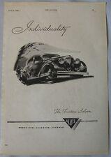 1949 Alvis Fourteen Original advert No.2