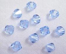 25 Swarovski Crystal Beads # 5301 Light Sapphire 6MM