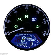 52mm Universal Motorcycle Digital Odometer KM/H Speedometer Gauge LED Backlight