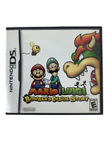 Mario & Luigi Bowser's Inside Story Nintendo DS Tested & Working Complete Manual
