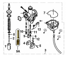Carburettor assembly for carb with x2 mark for Keeway Superlight 125