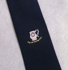 Vintage RUGBY Tie Mens Necktie Retro Sport DOG & PARTRIDGE RFC