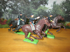53FP LOT OF 6 PIECES BRITAINS DEETAIL U.S. UNION CAVALRY FIGURES ON HORSE BACK