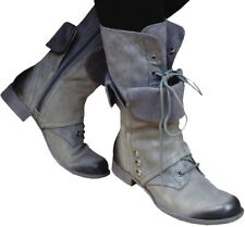 Details about Tamaris 1 26204 29 Graphite Cuffed Combat Boots size 7