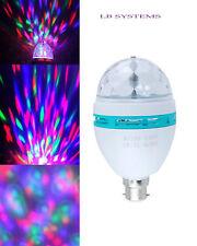 Novità RGB LED DISCOTECA LAMPADINA ROTANTE Lampadina Colorate Natale b22
