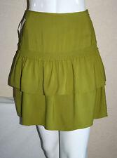Reiss Womens Green Absinth Ruffle Mini Skirt Size 4 New