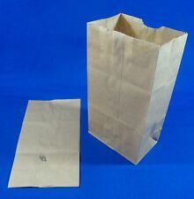 2 Paper Brown Kraft Natural Sack Grocery Merchandise Retail Bags