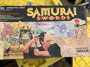 Samurai Swords Board Game 1995 Milton Bradley