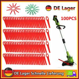100 X Klingen Ersatzmesser Für ALDI / Hofer Rasentrimmer Gardenline GLART 18 Li