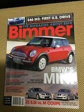 BIMMER BMW MAGAZINE OCTOBER 2001, M3, Z3, SCHUMACHER, MINI, EXHAUSTS, NEW