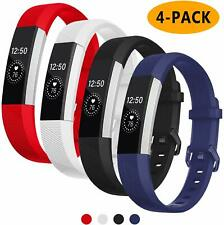 4 Pack-Bands Compatible with Fitbit Alta/Alta Hr for Women and Men Soft Silicone