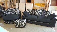 Striped Furniture Suites with Two Seater Sofa
