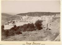 Algérie, Frendah, le vieux, vue panoramique  vintage citrate print, Tirage cit