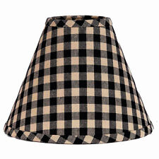 12 inch Black Check Lamp Shade Home Collection by Raghu Heritage House Cotton