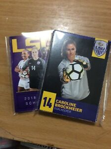 2018 LSU Lady Tigers Soccer Team Set And Pocket Schedule