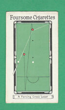ROBERT SINCLAIR TOBACCO CO. LTD.  -  SCARCE  BILLIARDS  CARD  -  NO.  6  -  1928