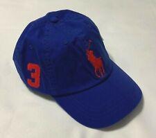 Polo Ralph Lauren Baseball Cap Hat Big Pony Adjustable Leather Strap Blue