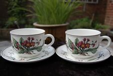 NEVER USED - 2 Villeroy & Boch BOTANICA Large OVERSIZED CUPS & SAUCERS