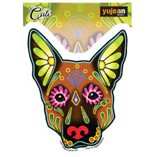 German Shepherd Dog Sticker Decal Car Window Laptop Sugar Skull Cali