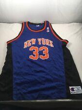 8603904b9 Vtg 90s NBA New York Knicks Patrick Ewing 33 Champion Jersey Mens Sz 52