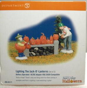 "DEPT 56 HALLOWEEN VILLAGE ""LIGHTING THE JACK-O-LANTERNS ""BRAND NEW"""