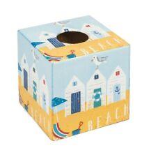 Beach Hut Tissue Box Cover wooden handmade in UK