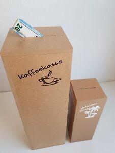 Spardose XXL Kaffeekasse Holz 52/32cm Spardosen groß Sparschwein Geld Dekosäule