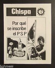 VINTAGE NEWSLETTER / CHISPA / PARTIDO SOCIALISTA DE PUERTO RICO / 1972