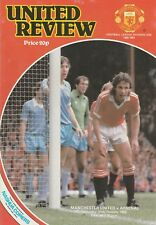 MANCHESTER UNITED v ARSENAL. First Division 1980/81