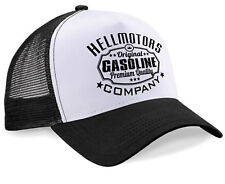 Hellmotors Gasoline Trucker Cap Oldschool Rockabilly Kappe RocknRoll Hot Rod V8