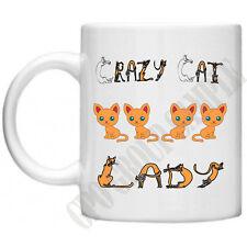 Crazy Cat Lady animali gattini gatti Novità Mum Mamma Regalo Per Lei Tè Tazza Da Caffè