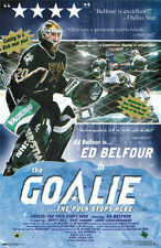 Vintage Original ED BELFOUR THE GOALIE Dallas Stars NHL Hockey Poster (2000)
