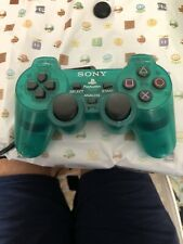Sony Playstation 2 PS2 DualShock 2 Controller SCPH-10010 Tested Clear Aqua Green