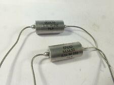 one pair high grade PIO capacitor EFCO 0.22µF 220nF 250VCC military grade & NOS