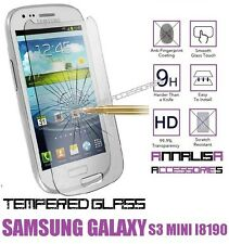 PELLICOLA IN VETRO TEMPERATO PER SAMSUNG GALAXY S3 MINI GT-i8190 TEMPERED GLASS