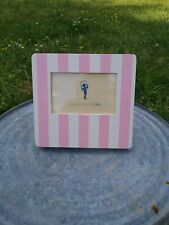 PINK AND WHITE STRIPED PICTURE FRAME POTTERY BARN KIDS SUPER CUTE