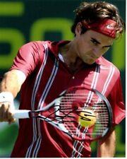 ROGER FEDERER Signed Autographed TENNIS Photo