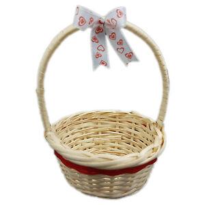 Weidenkorb Geschenkkorb Osterkorb mit Henkel 11 x 4 cm 3 Stück mit Schleife