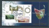 2004 Tasmania mini sheet overprinted 'Paris 2004' CTO ML443