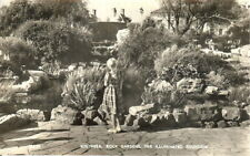 The Illuminated Fountain, Rock Gardens, Southsea - B/W Real Photo - Posted 1958